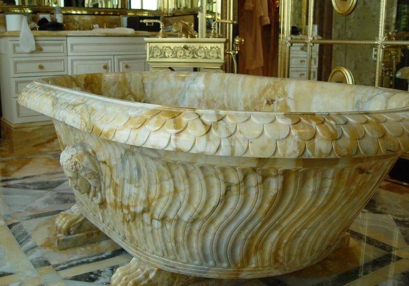 Дорогая ванна из природного мрамора