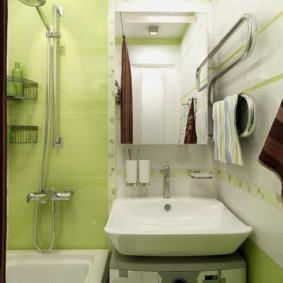 раздельная ванная комната в хрущевке