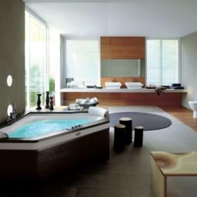 ванная с мебелью премиум класса декор