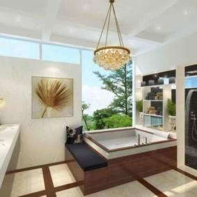 ванная с мебелью премиум класса фото интерьера