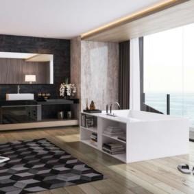ванная с мебелью премиум класса интерьер фото