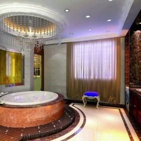 ванная с мебелью премиум класса интерьер
