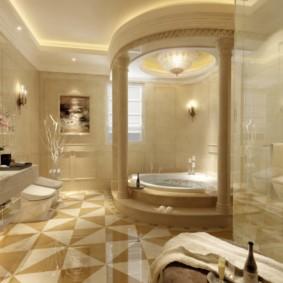 ванная с мебелью премиум класса оформление фото