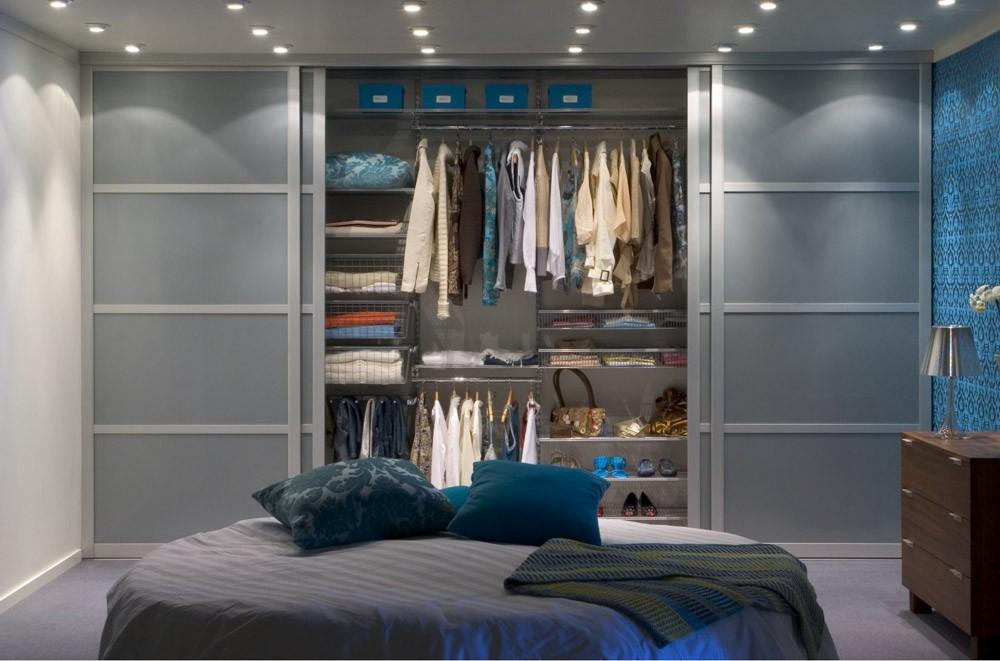 варианты гардеробной в спальне идеи