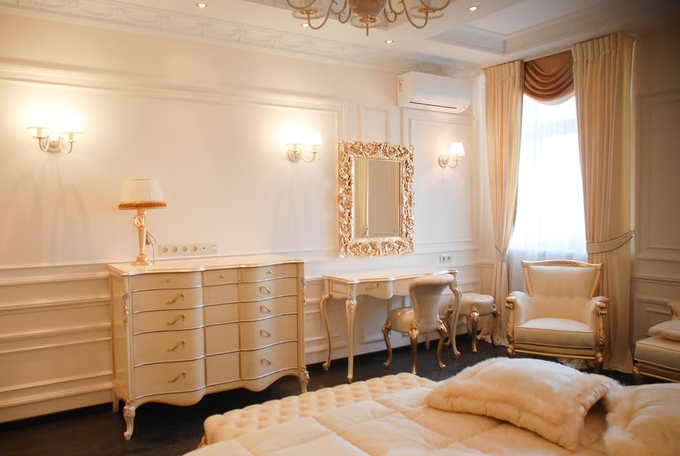 Мебель из дерева с позолотой для спальни барокко