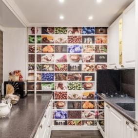 влагостойкие обои для кухни дизайн идеи