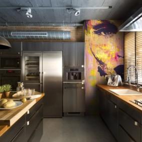 влагостойкие обои для кухни фото оформление