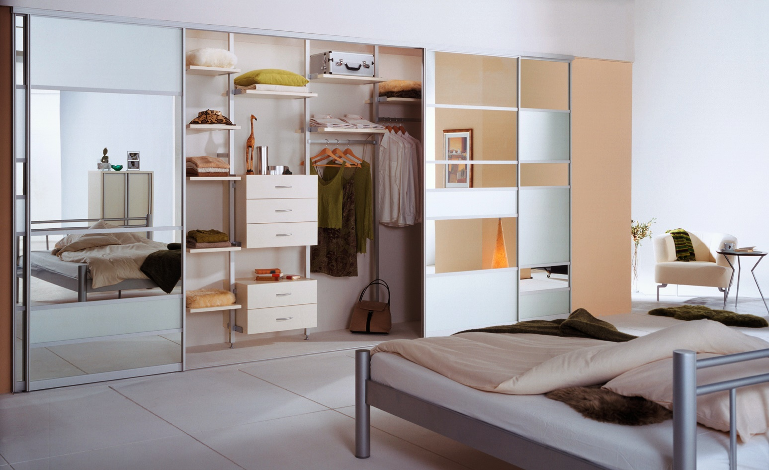 встроенный шкаф купе в спальне наполнение