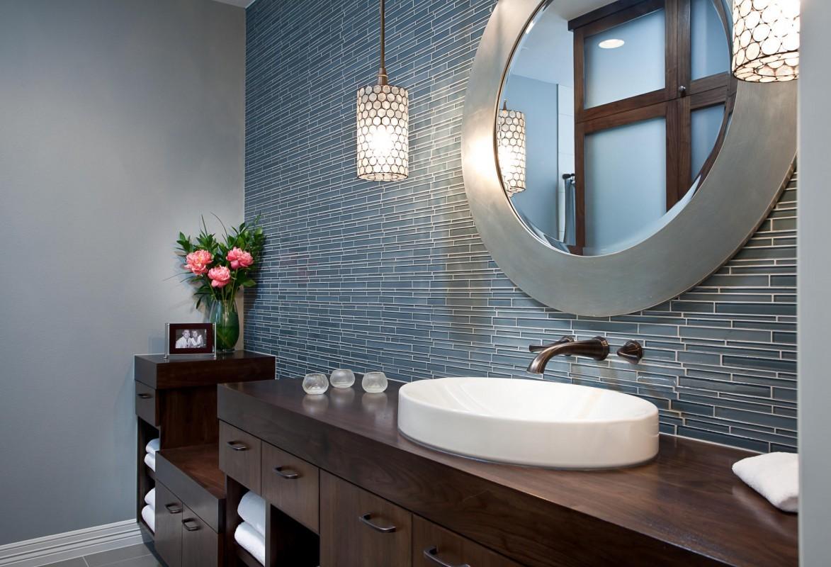 высота зеркала над раковиной в ванной
