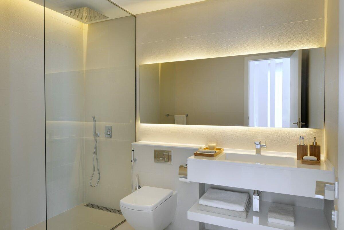 высота зеркала над раковиной в ванной дизайн идеи