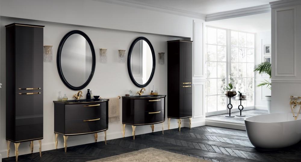 высота зеркала над раковиной в ванной фото