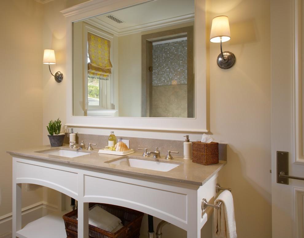 высота зеркала над раковиной в ванной идеи интерьера