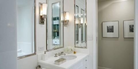 высота зеркала над раковиной в ванной интерьер