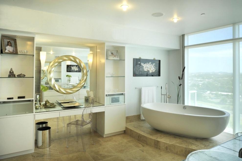 высота зеркала над раковиной в ванной интерьер идеи