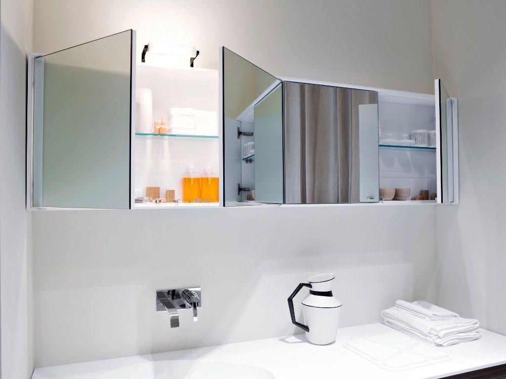 высота зеркала над раковиной в ванной варианты фото