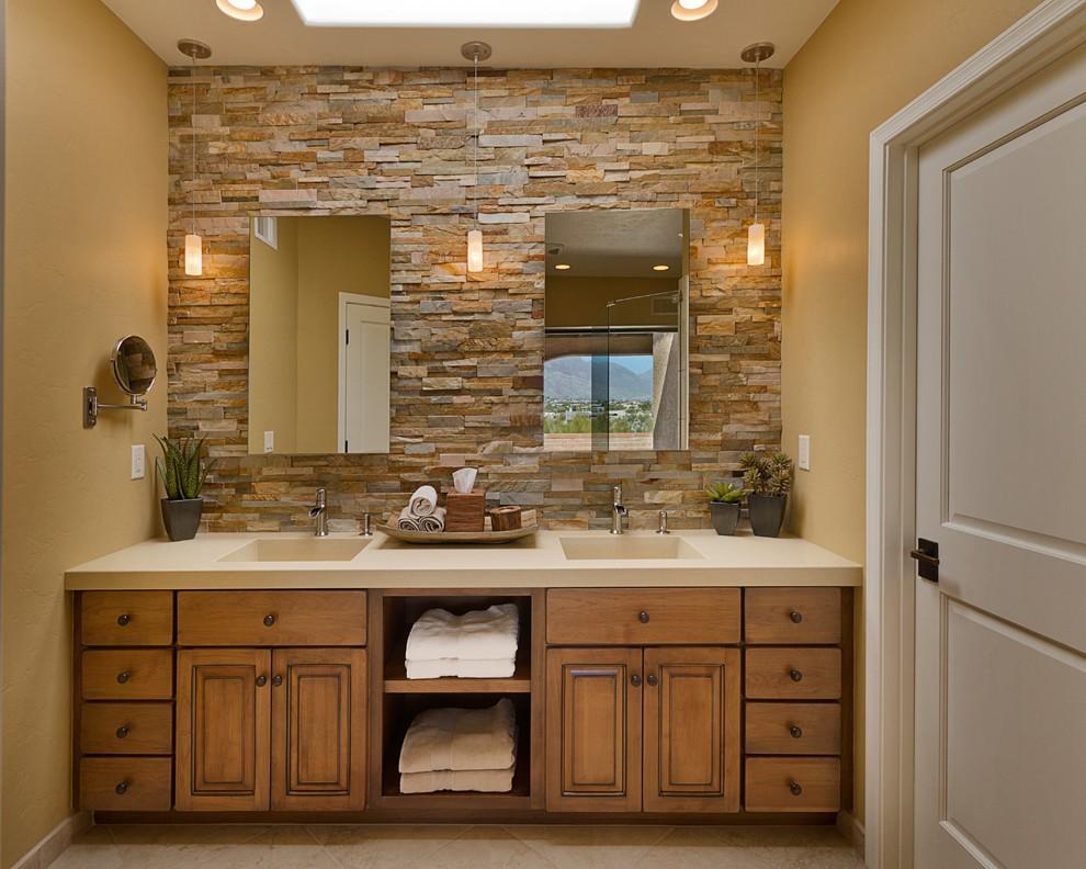 высота зеркала над раковиной в ванной декор фото