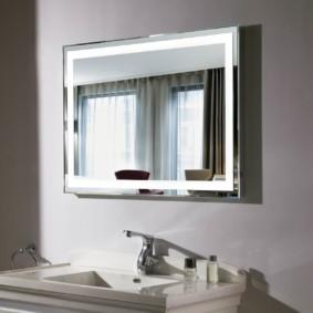 высота зеркала над раковиной в ванной дизайн