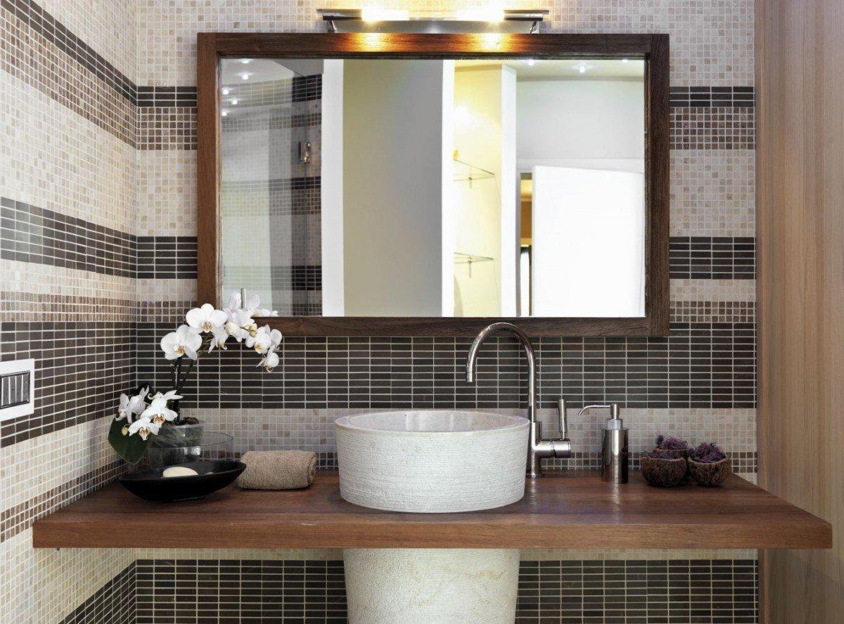 высота зеркала над раковиной в ванной фото декора