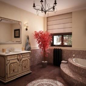 высота зеркала над раковиной в ванной фото вариантов