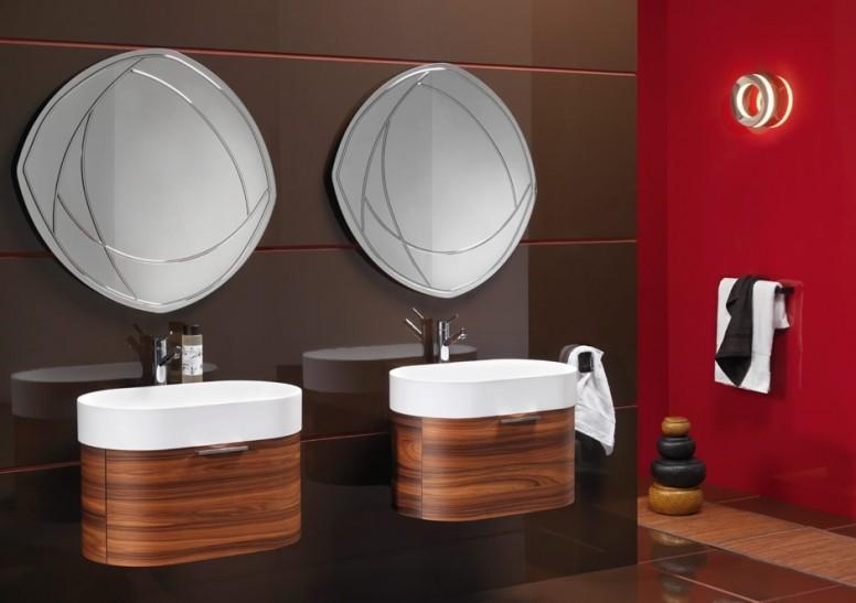 высота зеркала над раковиной в ванной идеи декор