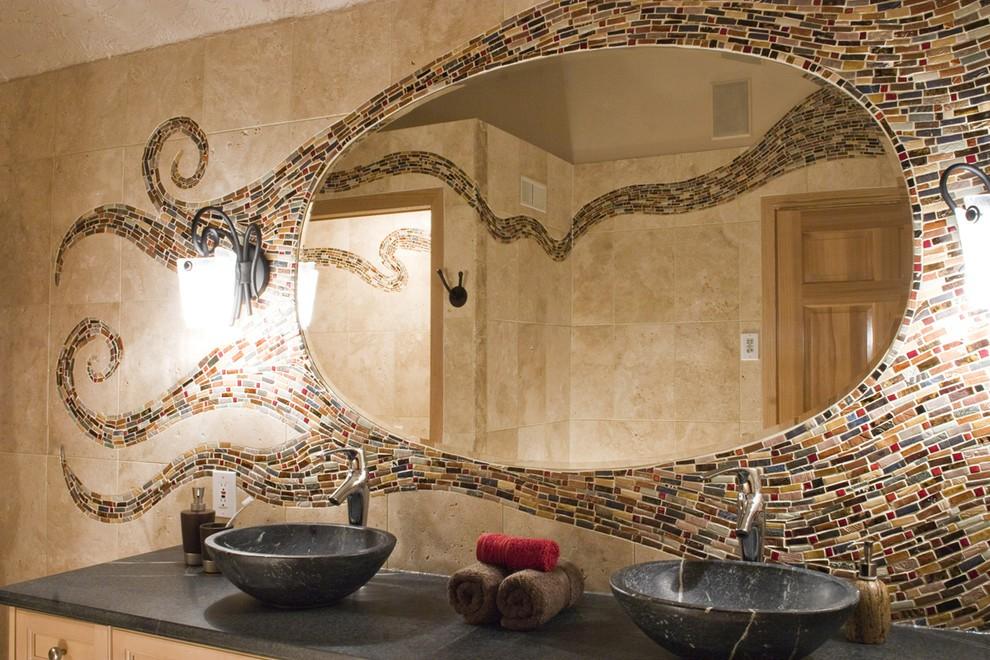 высота зеркала над раковиной в ванной идеи дизайна