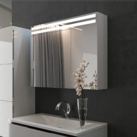 высота зеркала над раковиной в ванной идеи интерьер