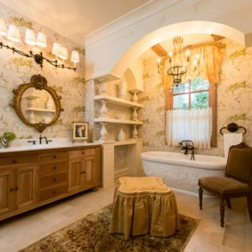 высота зеркала над раковиной в ванной идеи оформление