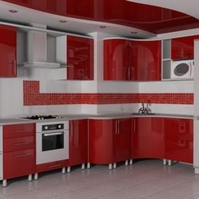 кухня с вентиляционным коробом яркая