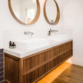 зеркало в ванной круглое