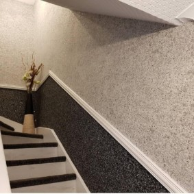 жидкие обои в коридоре декор идеи