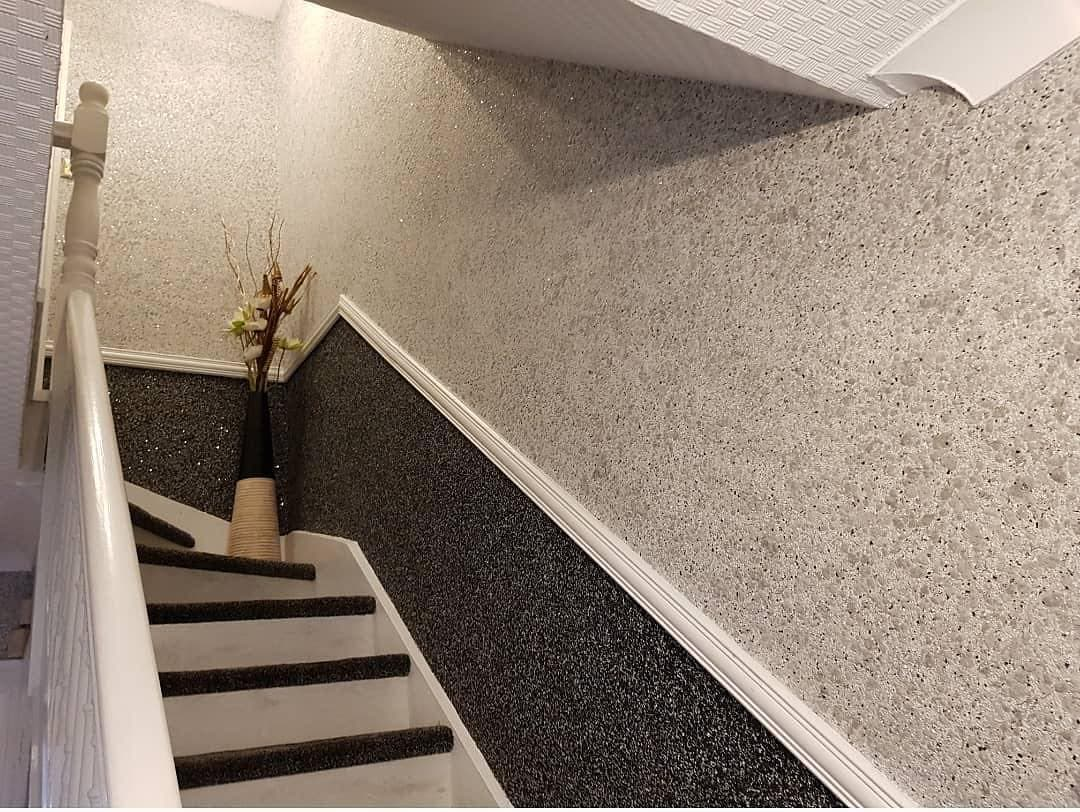 жидкие обои для коридора фото пыли брызг