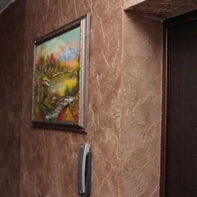 жидкие обои в коридоре фото декор