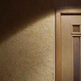 жидкие обои в коридоре фото декора
