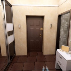 жидкие обои в коридоре фото интерьер