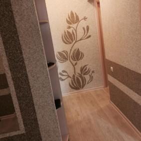 жидкие обои в коридоре фото интерьера