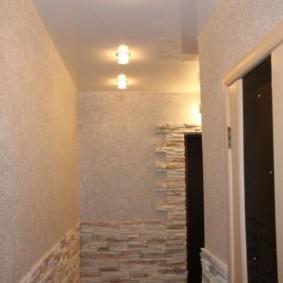 жидкие обои в коридоре идеи декор