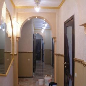 жидкие обои в коридоре идеи декора
