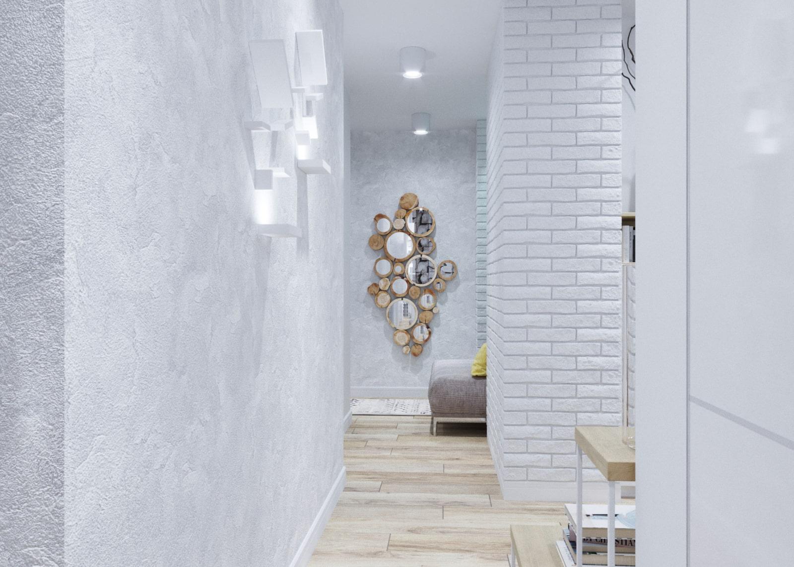 жидкие обои в коридоре идеи дизайна