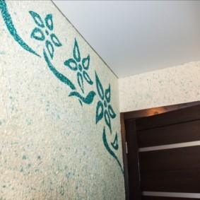 жидкие обои в коридоре идеи фото