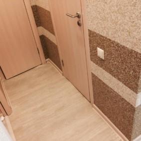 жидкие обои в коридоре интерьер фото