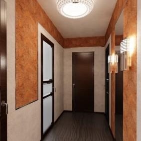 жидкие обои в коридоре интерьер идеи