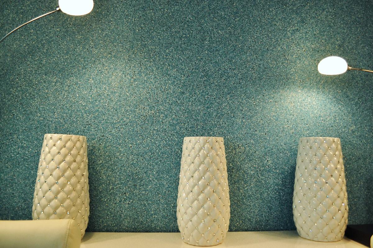 жидкие обои в коридоре шелковые