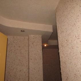жидкие обои в коридоре варианты идеи