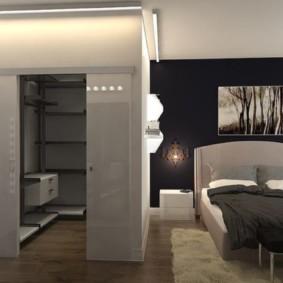 спальня 15 кв метров с гардеробной