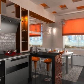 барная стойка для кухни виды идеи