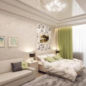 гостиная спальня 16 кв метров