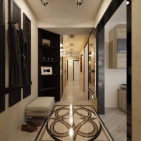 узкий коридор в квартире варианты