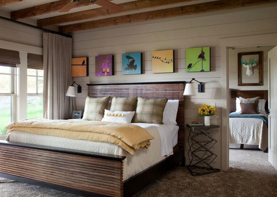 спальня 15 кв метров стиль кантри