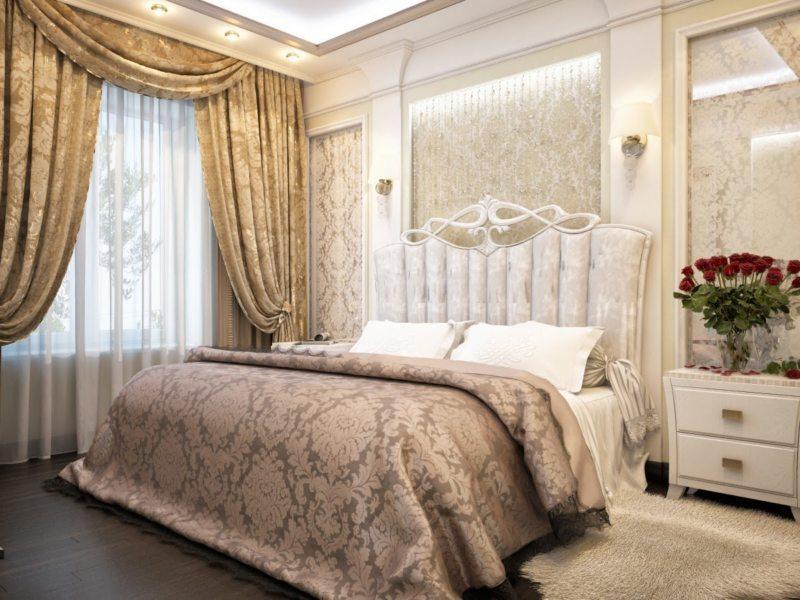 спальня 15 кв метров классика