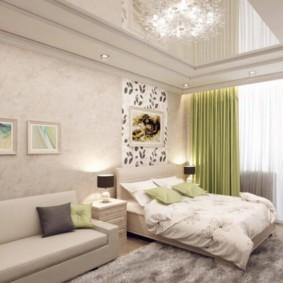 спальня 15 кв метров с диваном